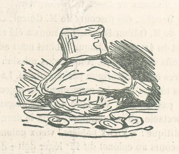 Francúzsky karikaturista z 19. storočia – Nádoba