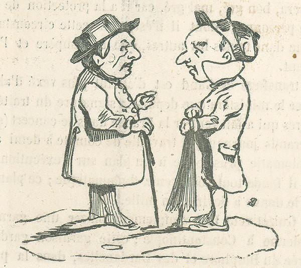 Francúzsky karikaturista z 19. storočia – Stretnutie