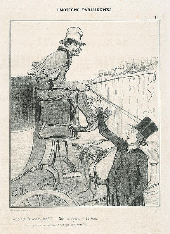 Honoré Daumier - Fiaker