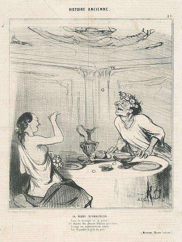 Honoré Daumier – Anacreontova smrť