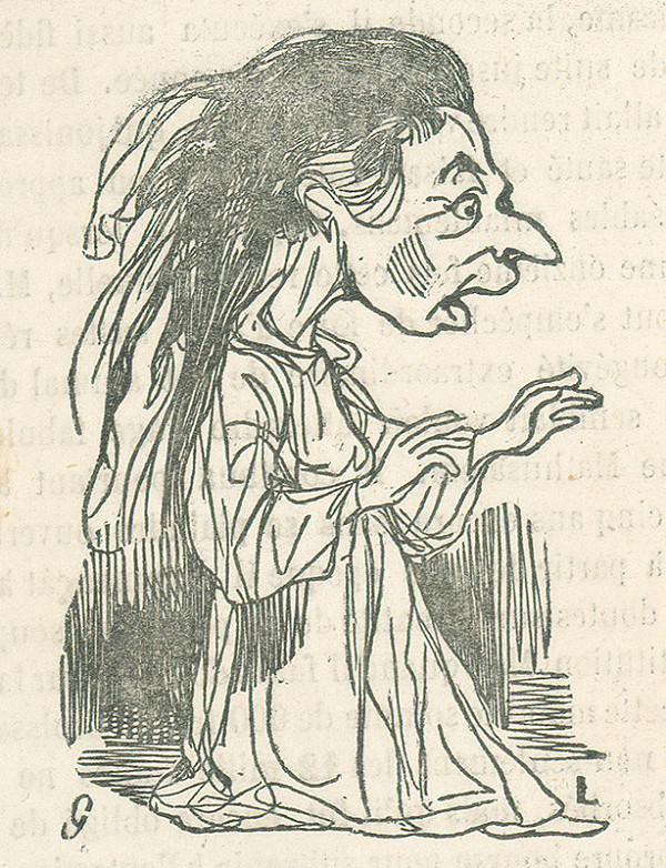 Francúzsky karikaturista z 19. storočia - Žena