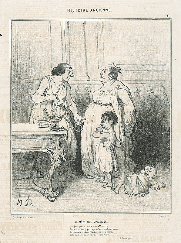 Honoré Daumier – Matka Gracchov