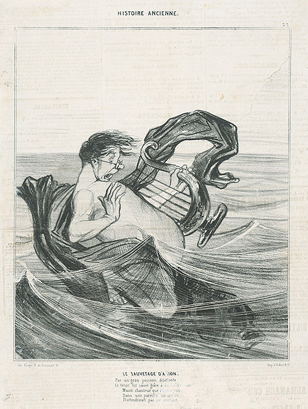Honoré Daumier - Záchrana Ariona