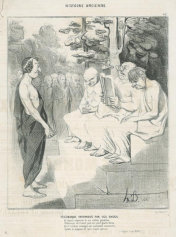 Honoré Daumier – Telemachos vypočúvaný radou starcov