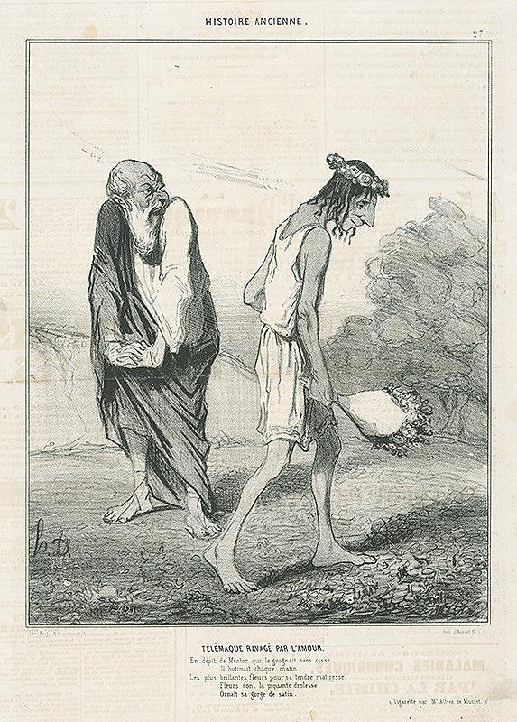 Honoré Daumier – Zaľúbený Telemachos