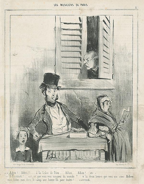 Honoré Daumier – Nepochopení speváci