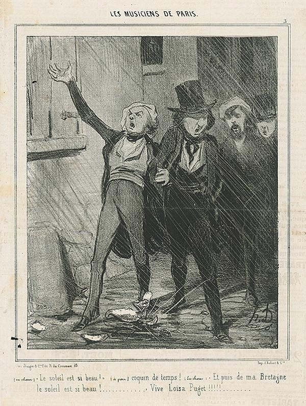 Honoré Daumier – Nočná hudba