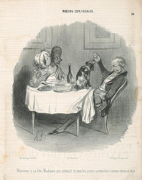 Honoré Daumier - Manželská zhoda