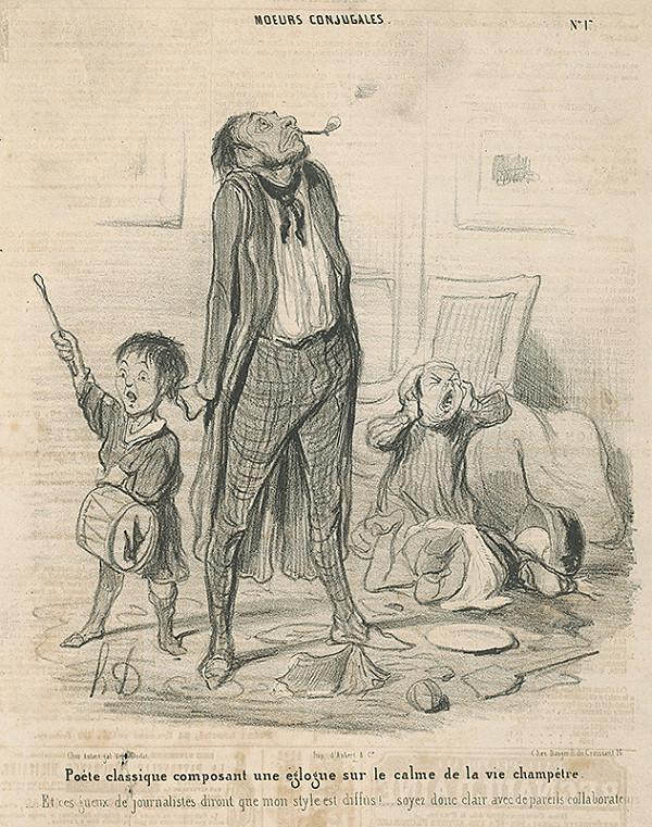 Honoré Daumier – Básnikove ťažkosti