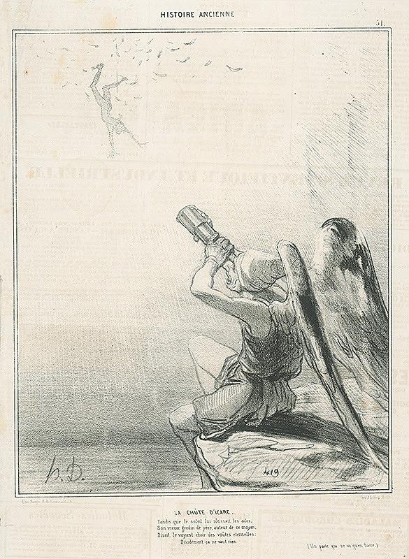 Honoré Daumier - Ikarov pád