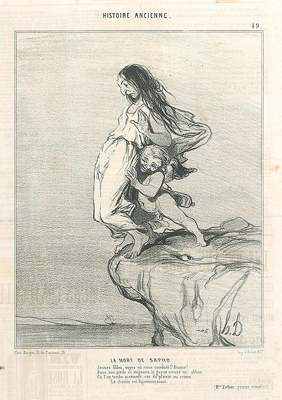 Honoré Daumier – Smrť Sapfo