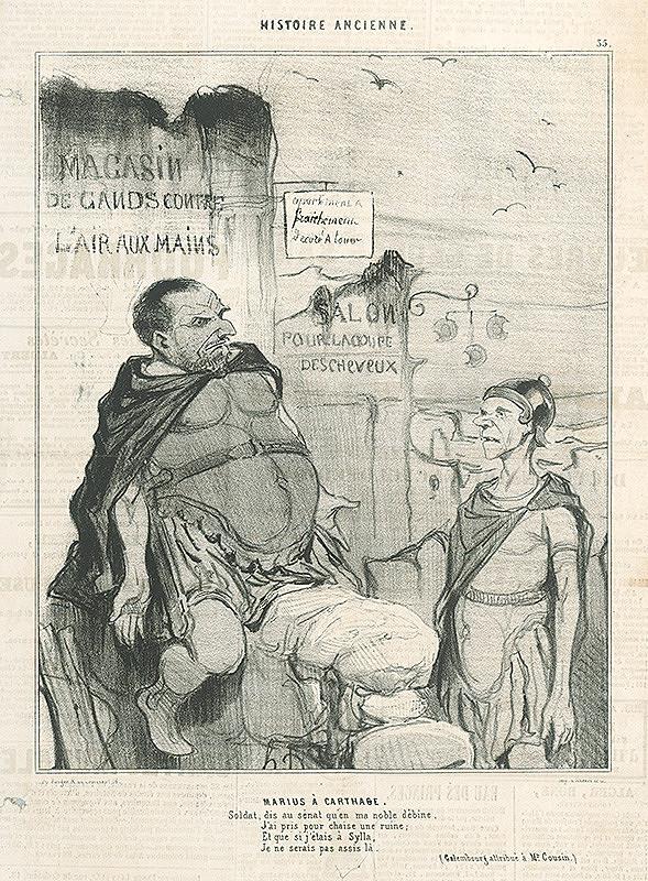 Honoré Daumier - Márius v Kartágu