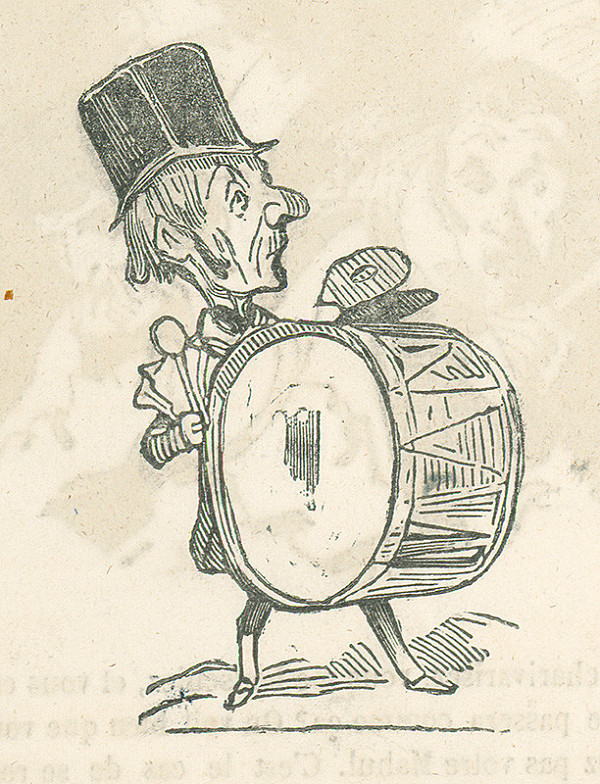 Francúzsky karikaturista z 19. storočia - Bubeník