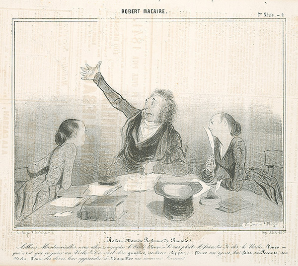Honoré Daumier - Robert Macaire ako profesor
