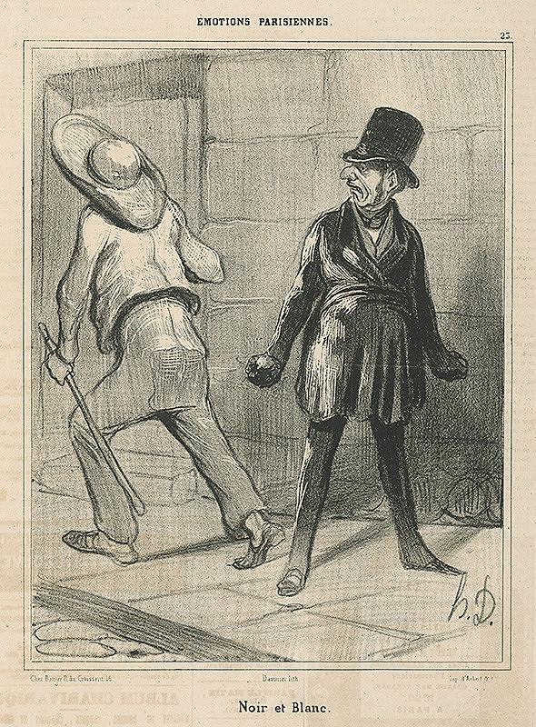 Honoré Daumier - Čierne a biele