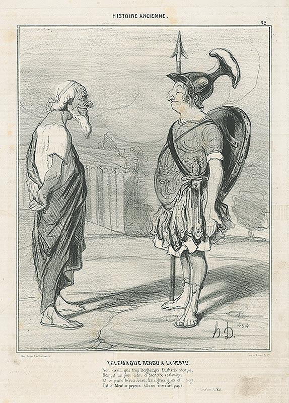 Honoré Daumier – Návrat statočného Telemacha
