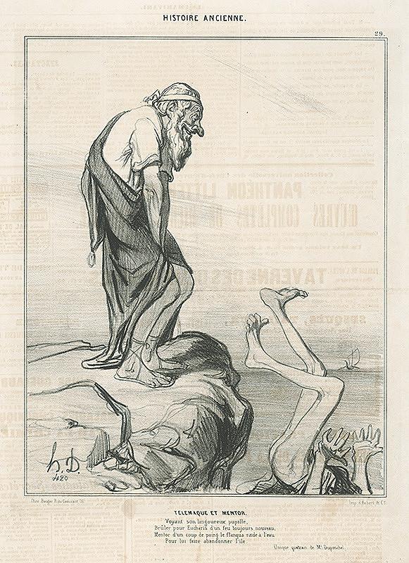 Honoré Daumier – Telemachos a Mentor