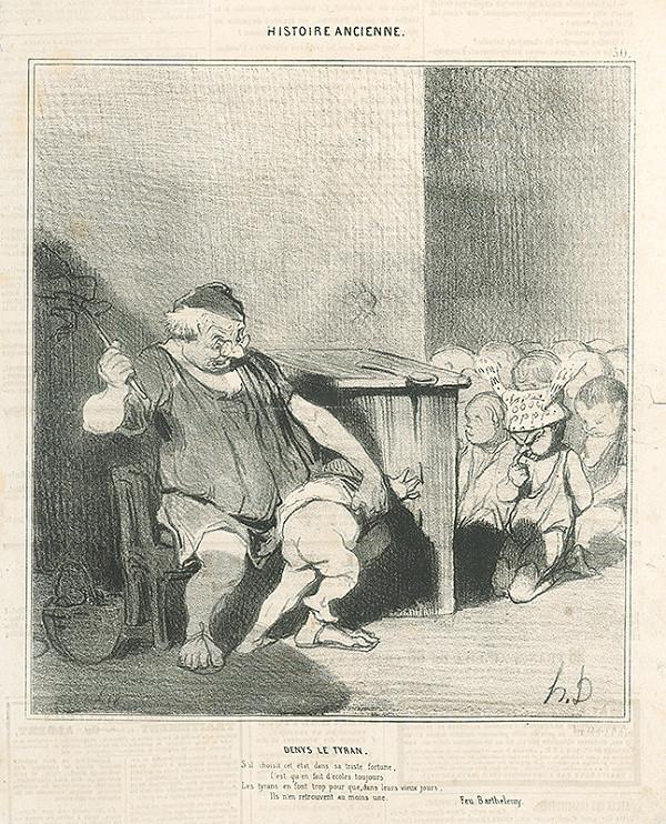 Honoré Daumier – Tyran Denis