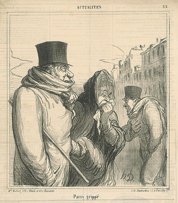 Honoré Daumier - Chrípka v Paríži