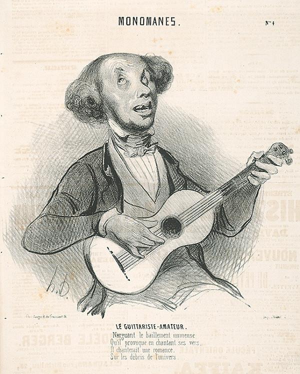 Honoré Daumier - Amatér - hráč na gitare