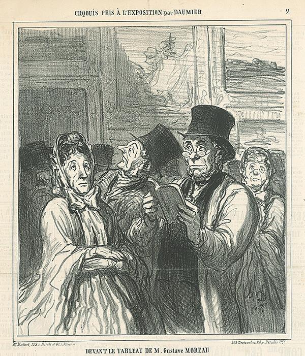 Honoré Daumier – Pred obrazom Gustáva Moreaua