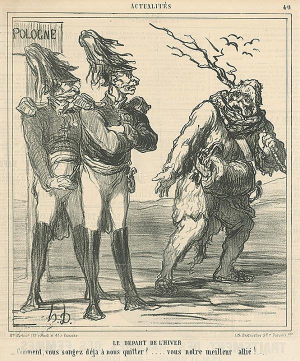 Honoré Daumier - Odchod zimy
