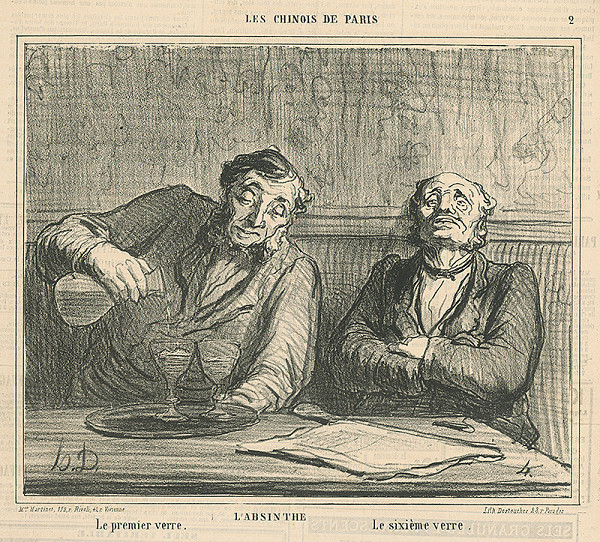 Honoré Daumier - Absint