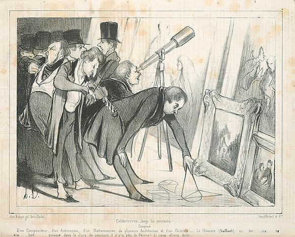 Honoré Daumier – Na výstave obrazov