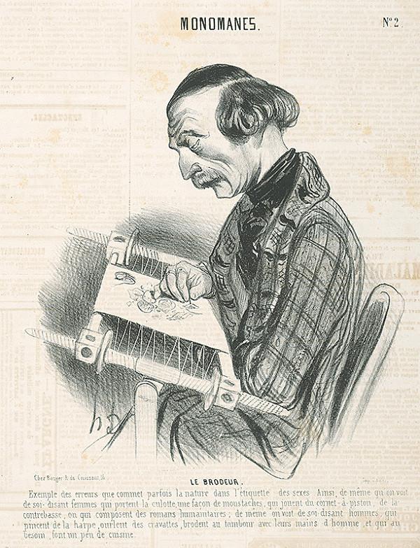 Honoré Daumier - Vyšívanie