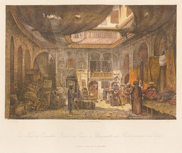 Karol Ľudovít Libay – Časť perzského bazáru v Káhire