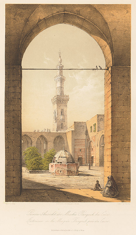Karol Ľudovít Libay – Pohľad na vnútro mešity Barquq pri Káhire