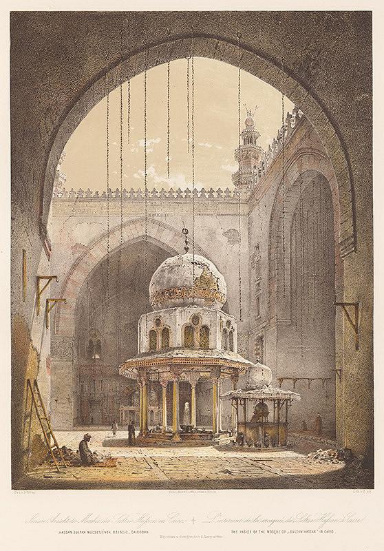 Karol Ľudovít Libay – Vnútro mešity Sultána Hassana v Káhire