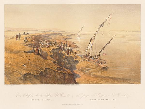Karol Ľudovít Libay – Prechod cez Níl pri El - Gazieh