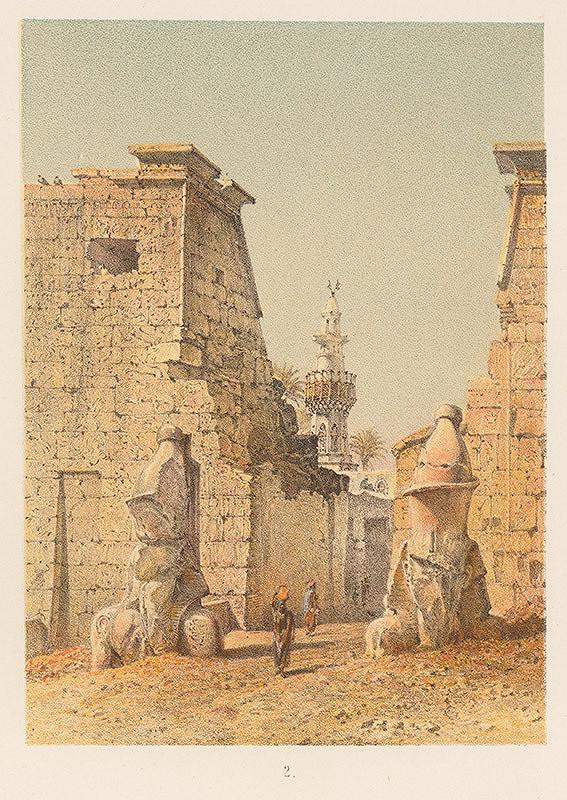 Karol Ľudovít Libay – Skica Chrámu v Luxore