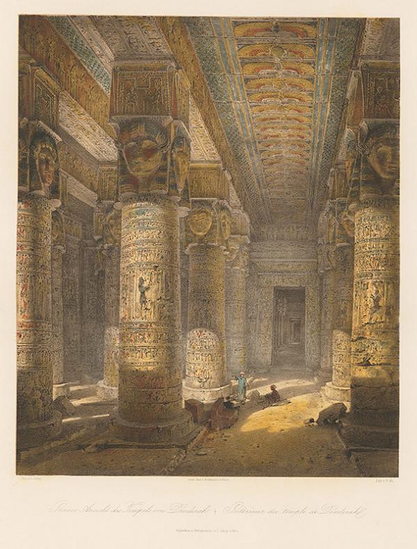 Karol Ľudovít Libay – Interiér chrámu v Dendere