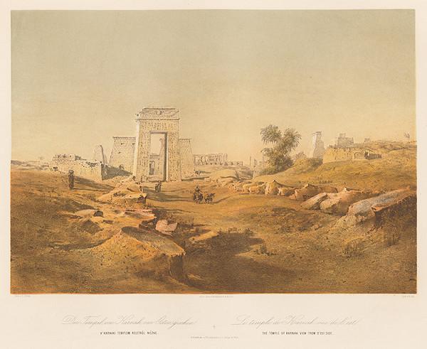 Karol Ľudovít Libay – Chrám v Karnaku, pohľad z východnej strany