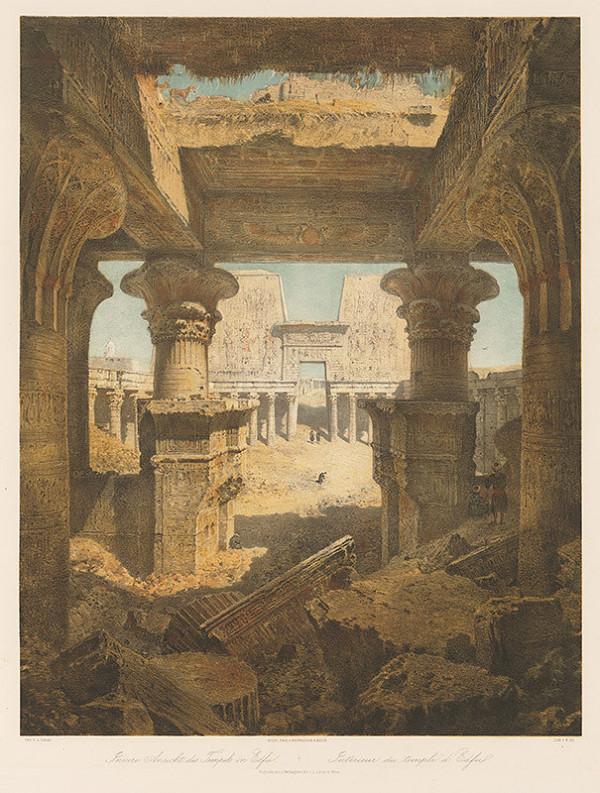 Karol Ľudovít Libay – Interiér chrámu v Edfu