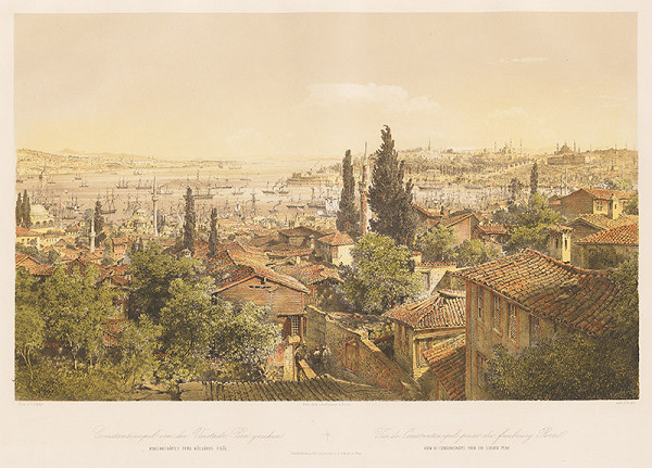 Karol Ľudovít Libay – Pohľad na Konštantínopol z predmestia Pera