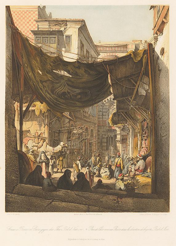Karol Ľudovít Libay – Ulica a bazár v Káhire oproti bráne Bab El-Nasr