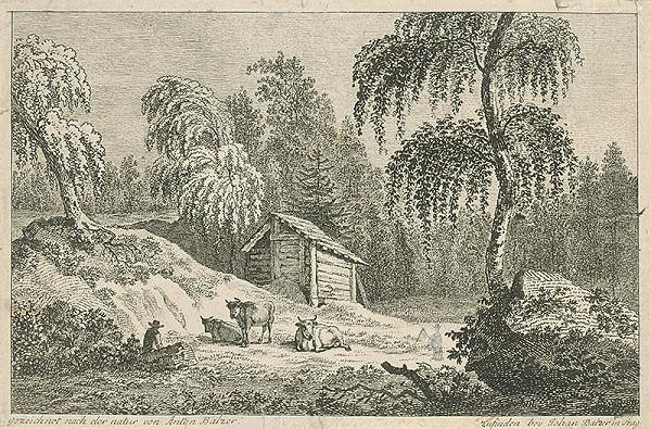 Jan Jiří Balzer, Antonín Balzer – Pastier s kravami