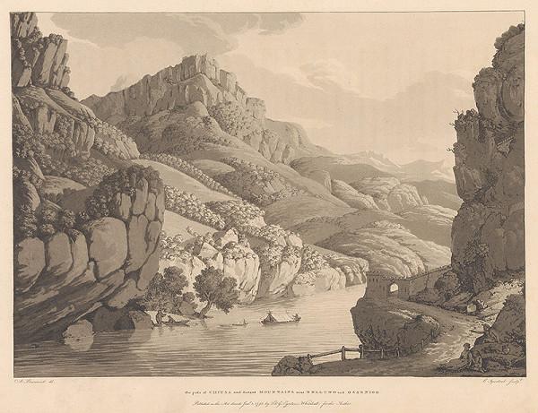 Jean-François Albanis de Beaumont, Cornelis Apostool – Priesmyk z Chiusa a zdialené hory neďaleko Belluna a Osseniga