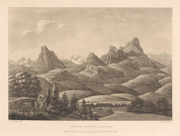 Jean-François Albanis de Beaumont, Cornelis Apostool - Vernerove vrchy videné od Insbrucku