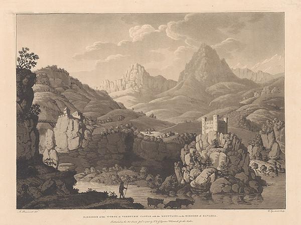 Jean-François Albanis de Beaumont, Cornelis Apostool - Tyrolská priehrada pri zámku Vernstein s vrchmi na bavorských hraniciach