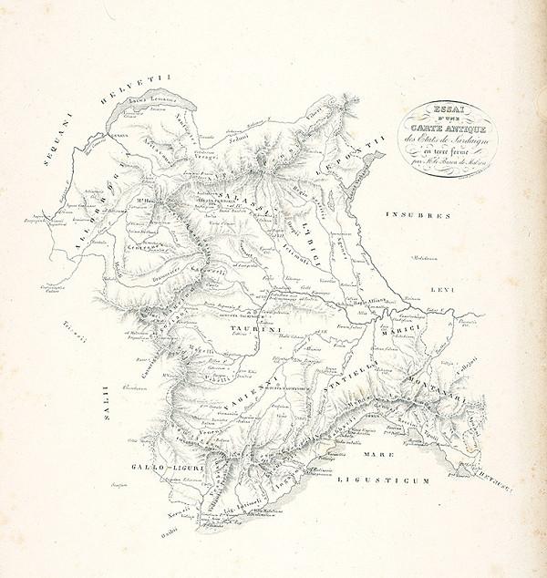 Baron de Malzen, Antonio Arghinenti – Mapa rímskych pamiatok