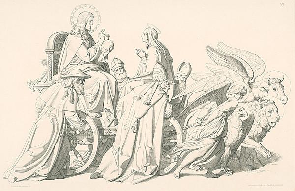 Alois Petrák, Joseph von Führich – Alegória s Máriou,Kristom a štyrmi evanjelistami