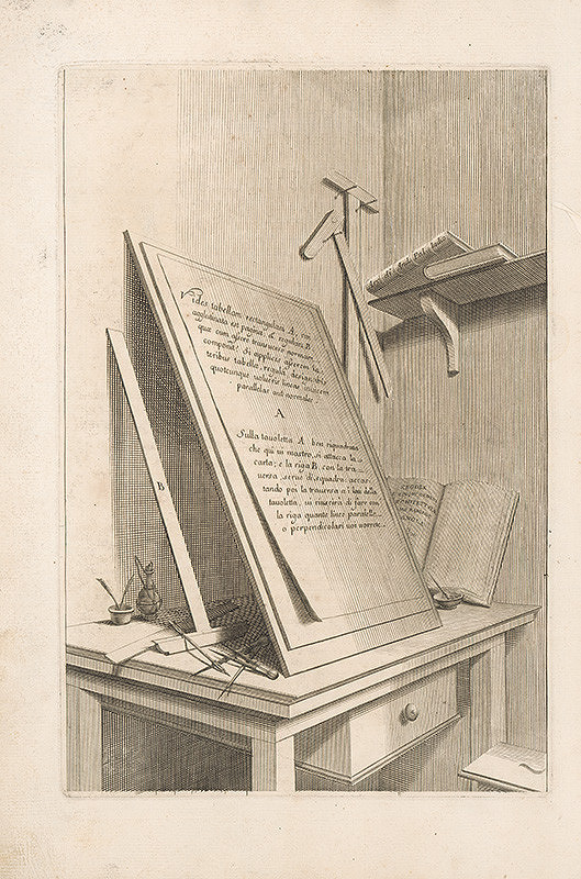 Vincenzo Mariotti, Andrea Puted, Andrea Pozzo – Pohľad na pracovný stôl architekta