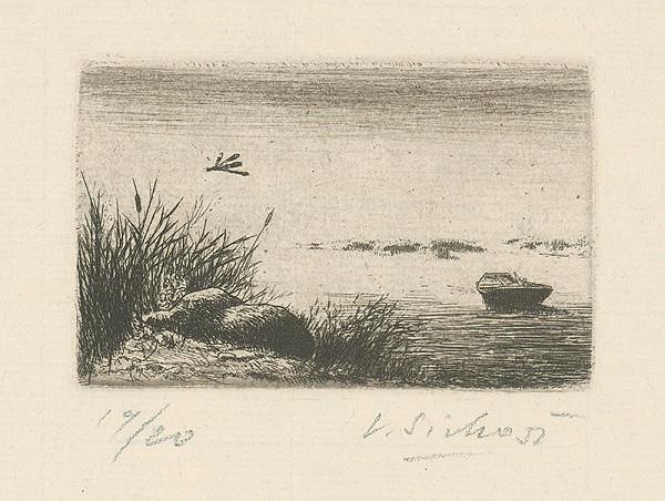 Václav Sivko - Loďka na rybníku