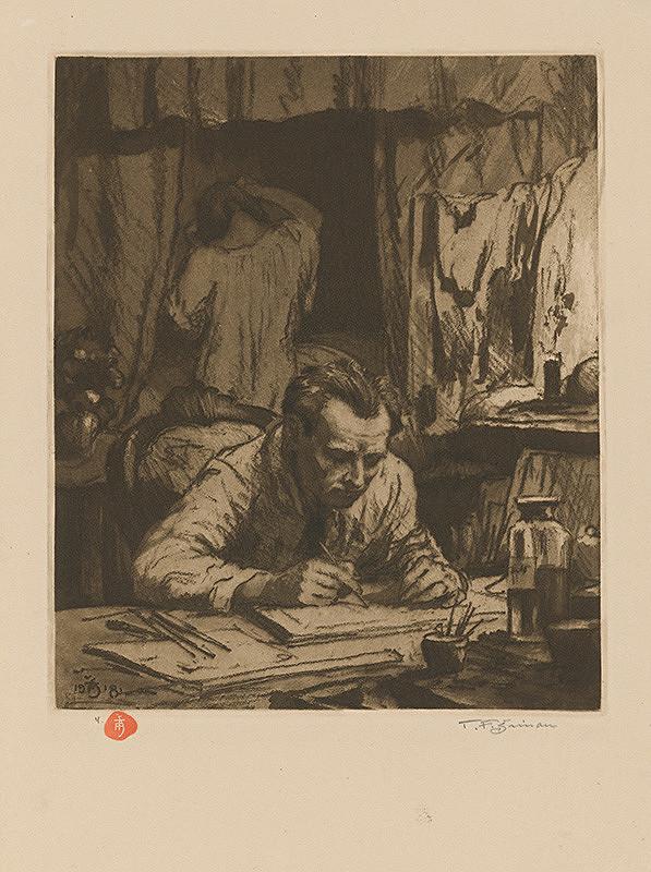 František Tavík Šimon – Portrét grafika