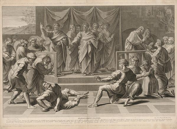 Nicolas Dorigny, Raffael - Ananiášova skúška
