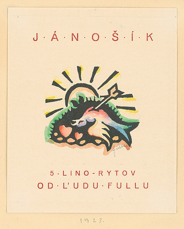 Ľudovít Fulla – Titulný list albumu Jánošík